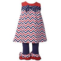 Toddler Girl Bonnie Jean Chevron Tunic & Ruffle Leggings Set