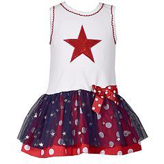 Toddler Girl Bonnie Jean Star Tulle Dress