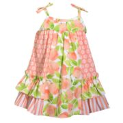 Baby Girl Bonnie Jean Peach & Flower Sundress