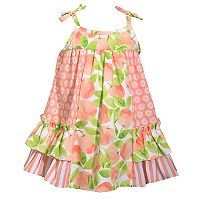 Toddler Girl Bonnie Jean Peach & Flower Sundress