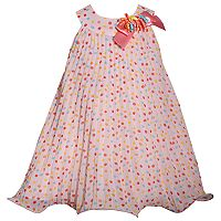 Toddler Girl Bonnie Jean Dot Pleated Chiffon Dress
