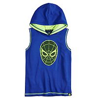 Boys 4-10 Marvel Hero Elite Series Avengers Infinity Wars Collection for Kohl's Spider-Man Mesh Hooded Tank Top