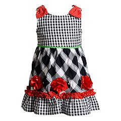 Baby Girl Youngland Gingham Ladybug Dress