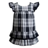 Baby Girl Youngland Plaid Ruffled Dress