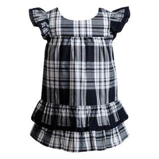 Baby Girl Youngland Plaid Ruffled Dress