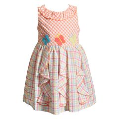 Baby Girl Youngland Gingham Butterfly Dress