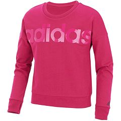 Girls 7-16 adidas Long Sleeve Cropped Sweatshirt