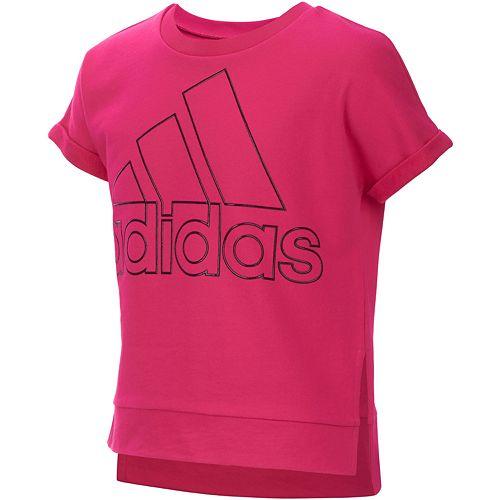 Girls 7-16 adidas Short Sleeve Cropped Sweatshirt