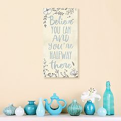 Artissimo Designs 'Believe' Floral Canvas Wall Art