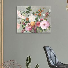 Artissimo Designs Contentment Floral Canvas Wall Art