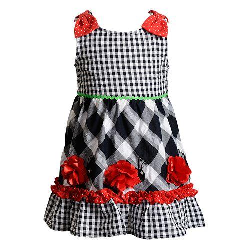 Baby Girl Youngland Gingham Ladybug Dress