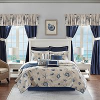 Madison Park Essentials Westport 24 pc Coverlet, Sheets & Curtain Set