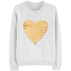 Girls 4-14 OshKosh B'gosh® Flip-Sequin Heart Sweater