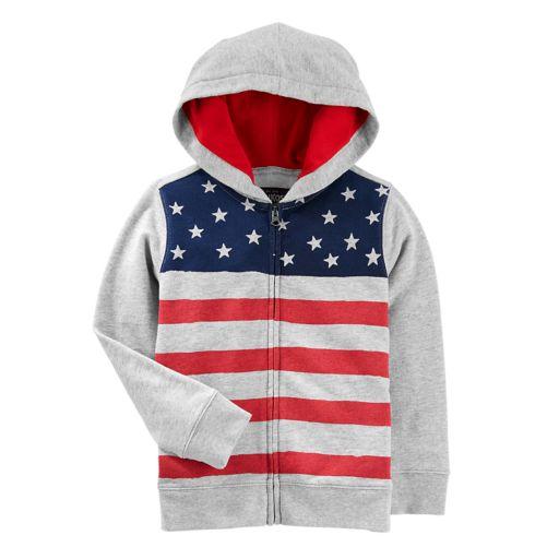 Boys 4-12 OshKosh B'gosh® American Flag Patriotic Zip Hoodie