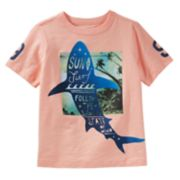 "Boys 4-12 OshKosh B'gosh® ""Sun Surf Waves"" Shark Graphic Tee"