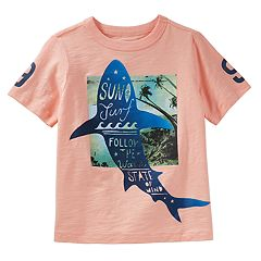 Boys 4-12 OshKosh B'gosh® 'Sun Surf Waves' Shark Graphic Tee