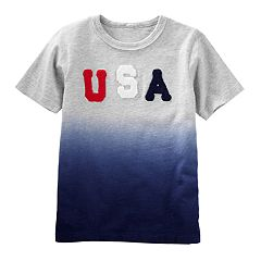 Boys 4-12 OshKosh B'gosh® 'USA' Dip Dyed Top