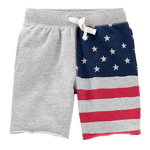 Boys 4-12 OshKosh B'gosh® American Flag Patriotic Knit Shorts