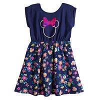 Disney's Minnie Mouse Toddler Girl Floral Bow Back Dress by Jumping Beans®