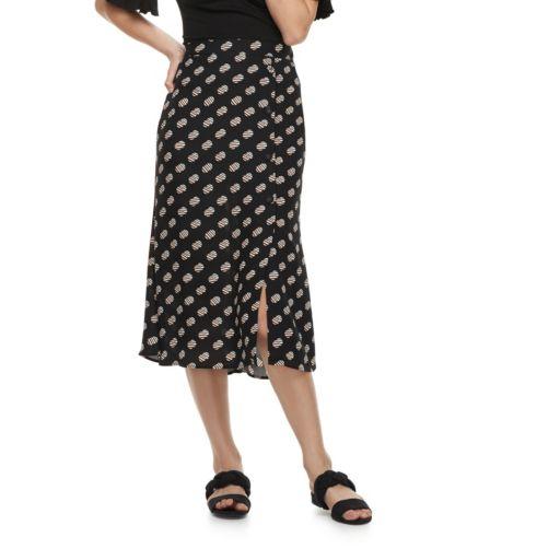 k/lab Polka-Dot Midi Skirt