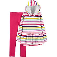 Girls 4-6x Carter's Striped Fleece Hoodie & Leggings Set