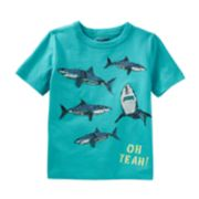 "Boys 4-8 OshKosh B'gosh® Sharks ""Oh Yeah"" Graphic Tee"