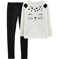 Girls 4-8 Carter's Glittery Animal Fleece Top & Leggings Set