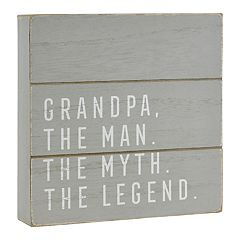 Belle Maison 'Grandpa' Rustic Box Sign Art