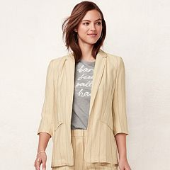 Women's LC Lauren Conrad Notch Long Blazer