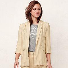 Women's LC Lauren Conrad Notch Long Blazer