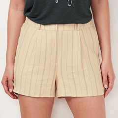 Women's LC Lauren Conrad Striped Shortie Shorts