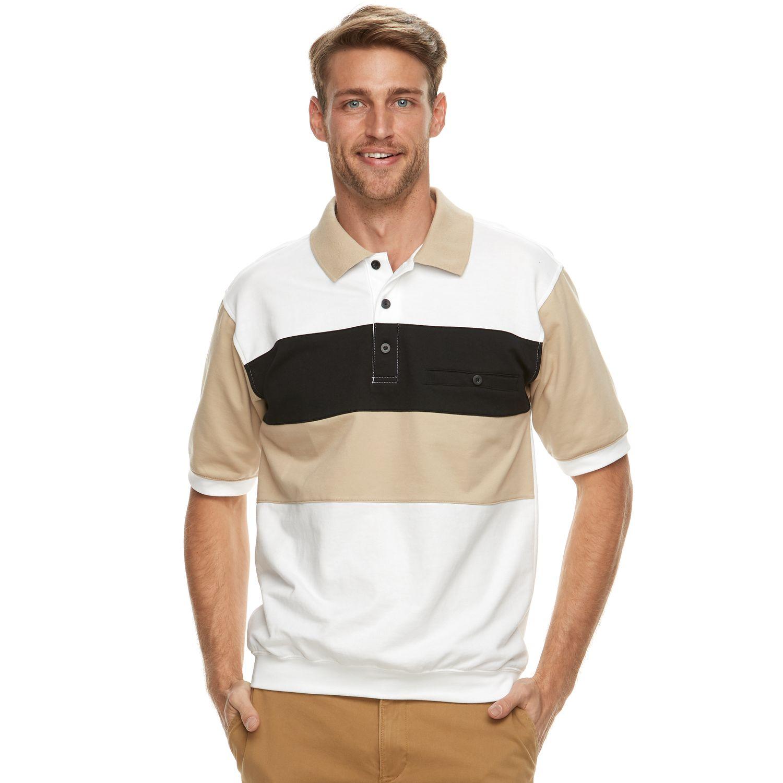 Man banded bottom polo shirt