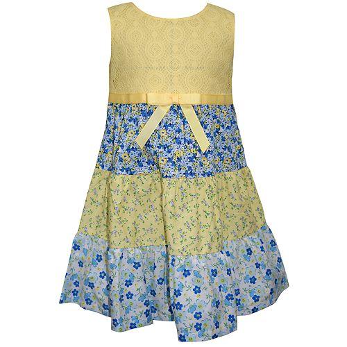 Baby Girl Blueberi Boulevard Floral Tiered Sundress