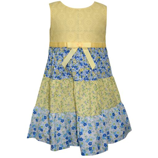 Baby Girl Blueberi Boulevard Floral Tiered Sundress