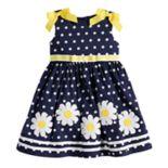 Toddler Girl Blueberi Boulevard Polka-Dot Daisy Applique Sundress