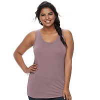 Juniors' Plus Size SO® Racerback Tank