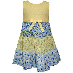 Toddler Girl Blueberi Boulevard Tired Floral Tank Dress