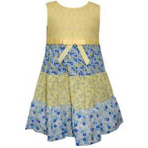 Toddler Girl Blueberi Boulevard Tired Floral Tank Dress