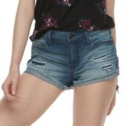 Juniors' Mudd® Frayed-Hem Shorts