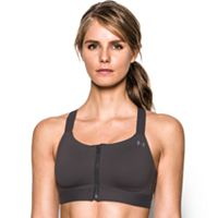 Under Armour Bras: Armour Eclipse Zip Front High-Impact Sports Bra 1293829