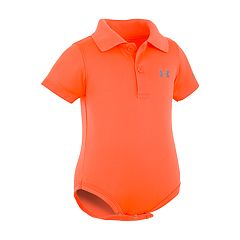 Baby Boy Under Armour Neon Polo Bodysuit