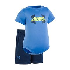 Baby Boy Under Armour Logo Graphic Bodysuit & Shorts Set