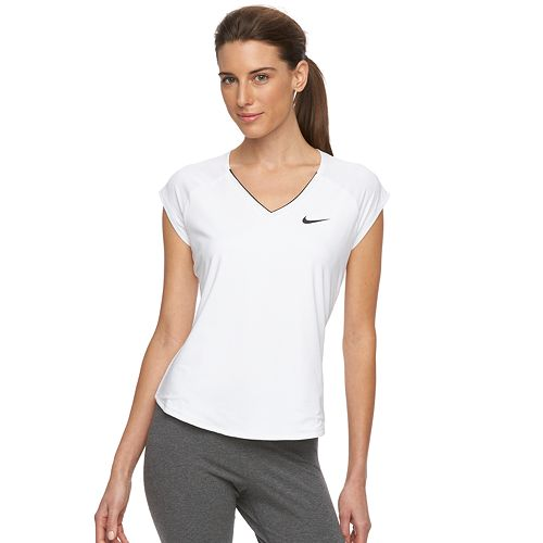 013ef3683 Women's Nike Pure V-Neck Workout Top