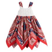 Toddler Girl Blueberi Boulevard Bandana Handkerchief-Hem Sundress