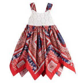 Toddler Girl Blueberi Boulevard Bandana Handkerchief-Hem Sundress