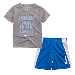 Baby Boy Nike 'Heroes Run In The Family' Graphic Tee & Shorts Set