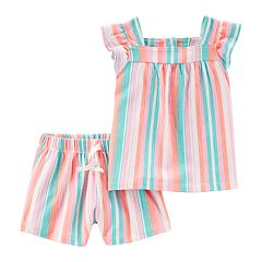Baby Girl Carter's Vertical Striped Tank Top & Shorts Set