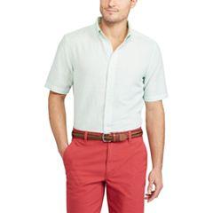 Big & Tall Chaps Classic-Fit Linen-Blend Button-Down Shirt