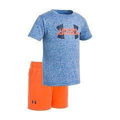 Baby Boy Under Armour Logo Graphic Tee & Shorts Set