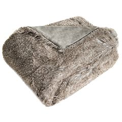 Safavieh Luxe Peacock Faux Fur Throw